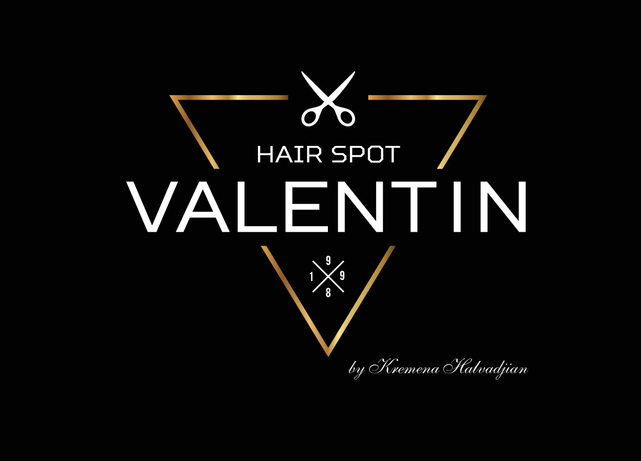 Desing 360 logo valentin hair spot