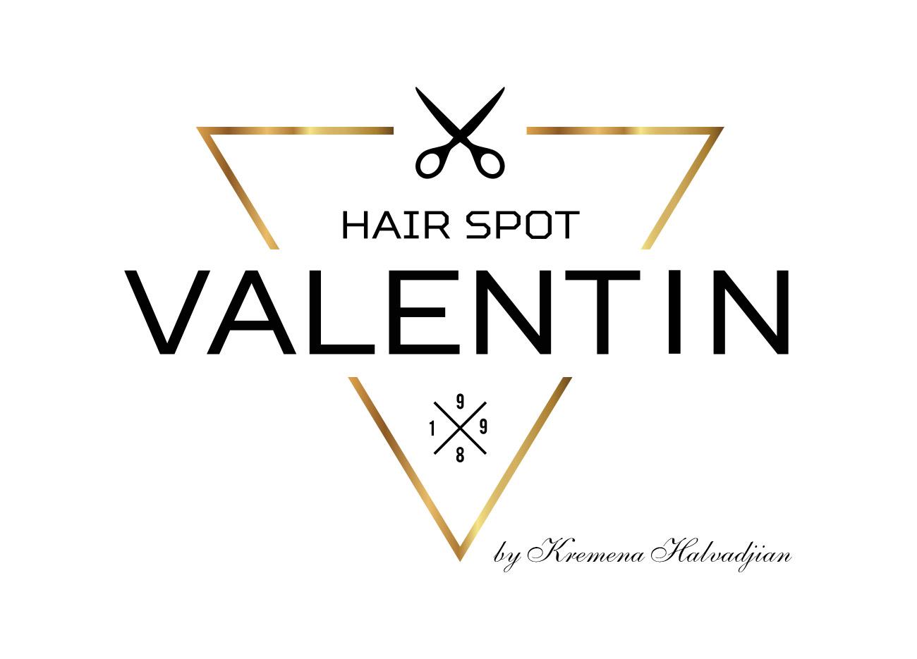 desing 360 - logo valentin hair spot